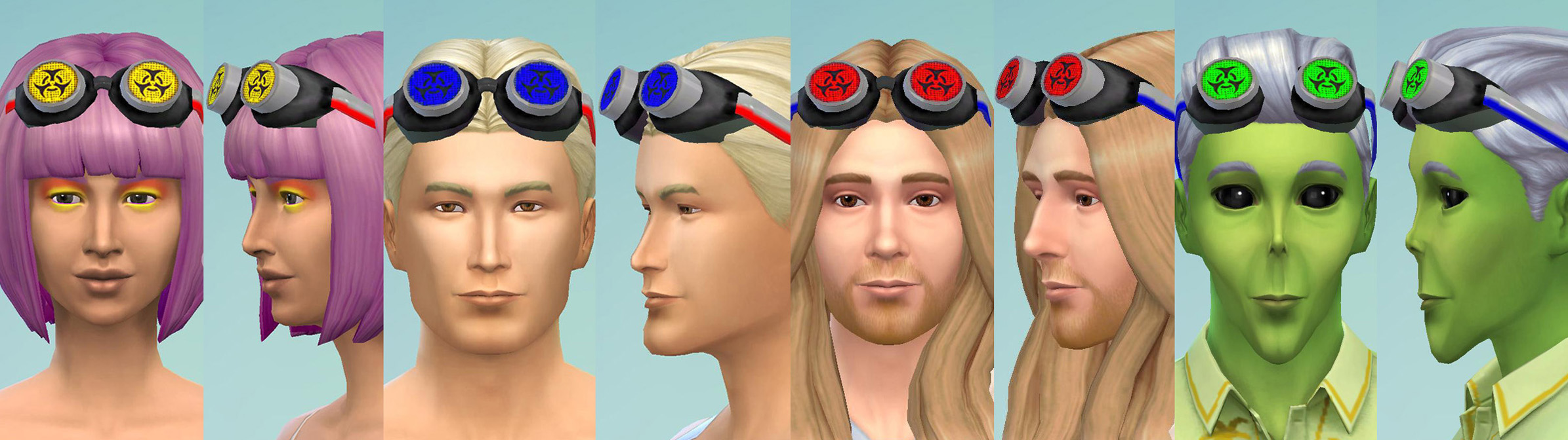 Sims 2 Rave Goggles + Assorted Retextures by Esmeralda