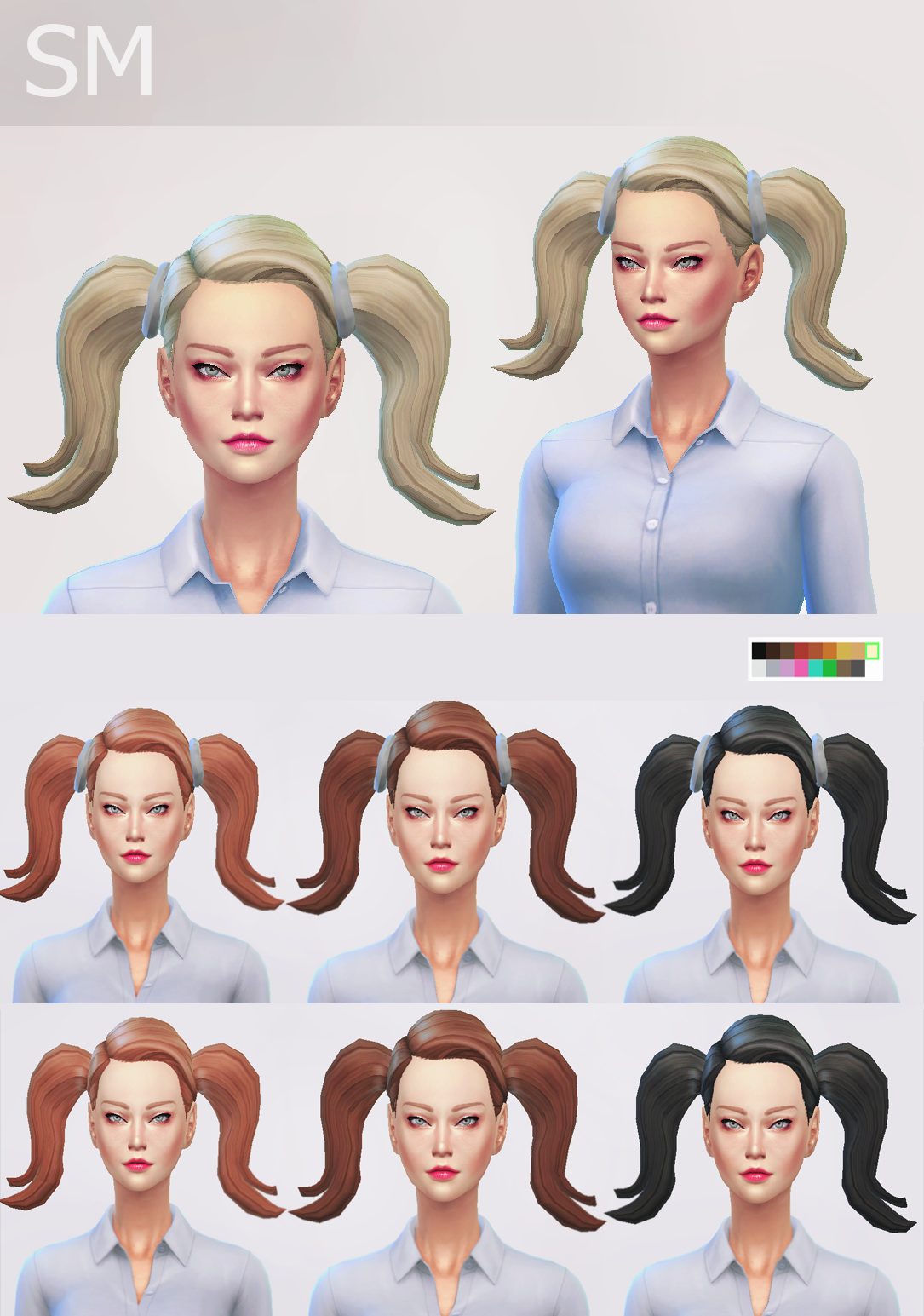Bella Hair for Females by Simaniacos