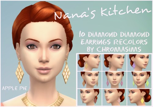 Earring Recolors by Chromasims