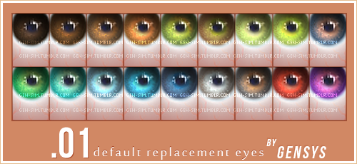 Default Replacement Eyes by Gensys