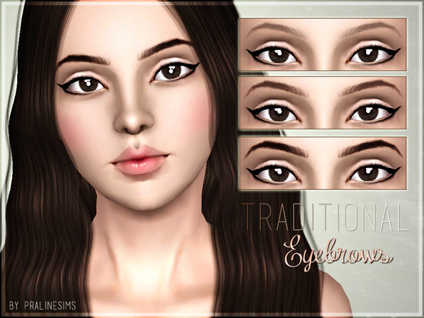 Traditional Eyebrows by Pralinesims