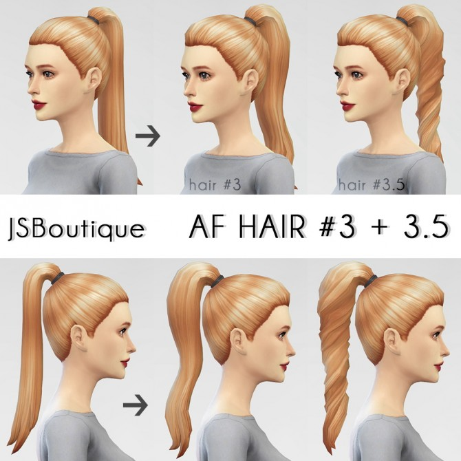 AF Hair 3 + 3.5 at JSBoutique