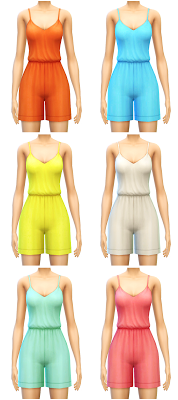 Floral and Solid Rompers by Sim4ny