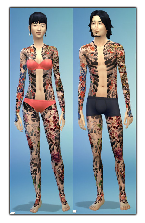 Japanese Full Body Tattoo at Gefa Sims