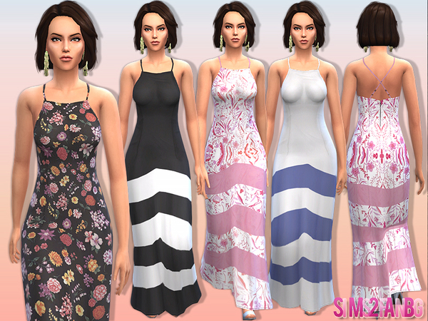 10 - Female maxi dress by sims2fanbg