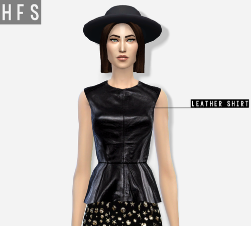 Leather Shirt for Females by Hautfashionsims4