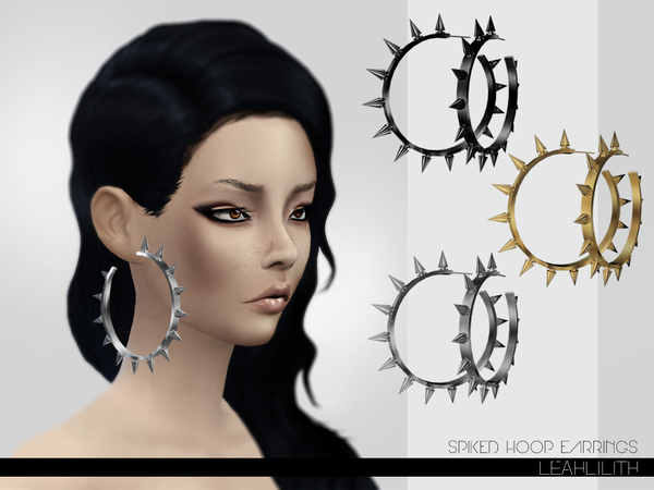 Leahlillith Spiked Hoop Earrings by Leah Lillith