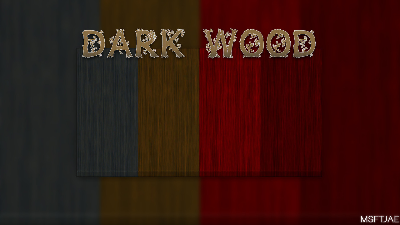 Dark Wood Walls by MsftJae