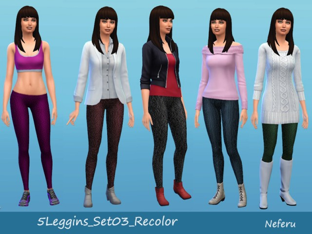 5Leggins_Set03 by Neferu