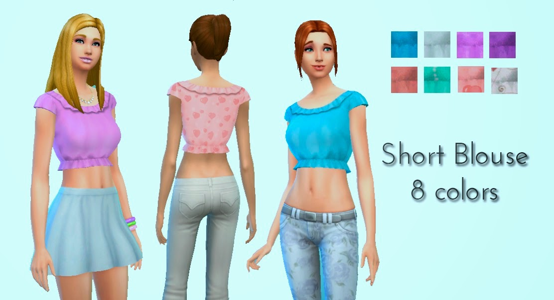 Short Blouse for Teen - Elder Females by Kiara Zurk