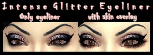 Intense glitter eyeliner at DecayClowns Sims