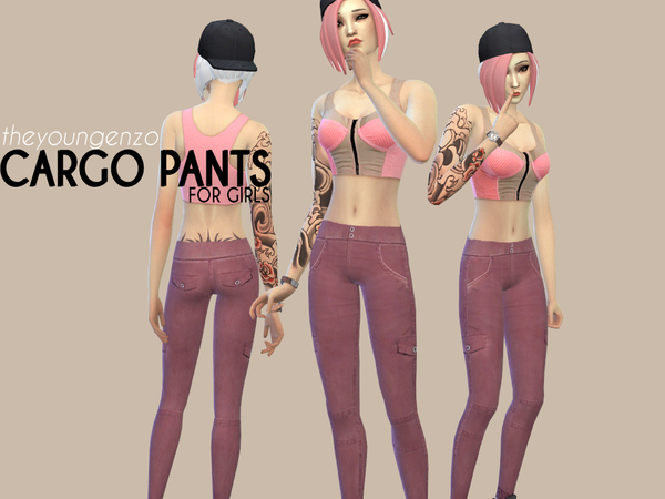 Skinny Cargo Pants by theyoungenzo