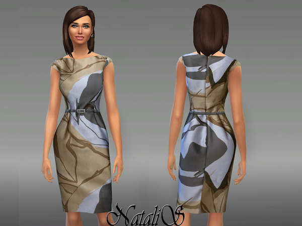 NataliS_Abstract print dress FA-YA