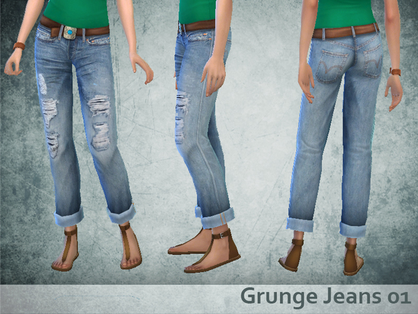 Grunge Jeans 01 by oldmember_Yayael