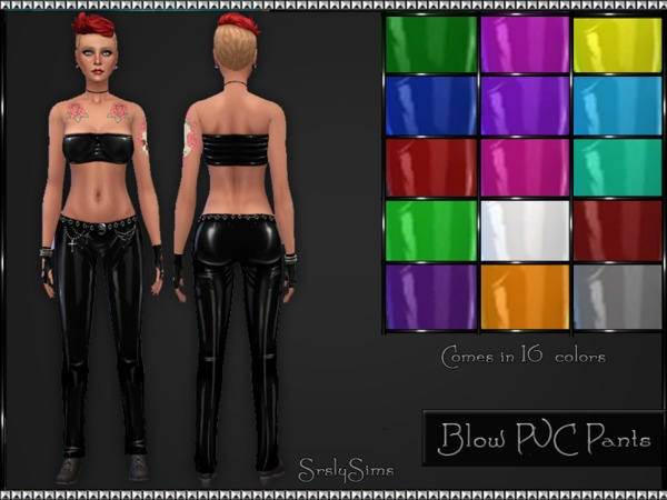 Blow PVC Pants by SrslySims
