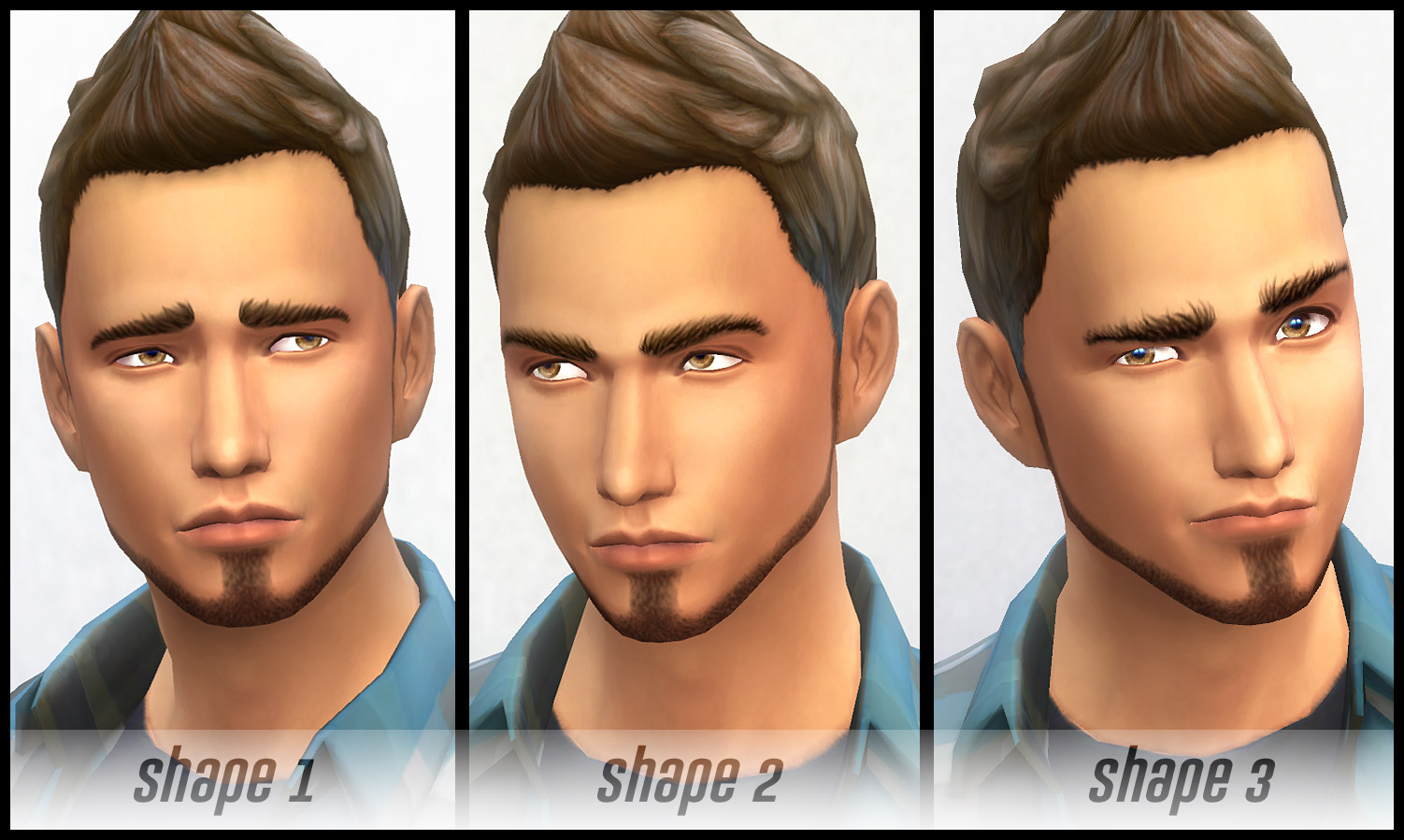 Masculine Eyebrows - 3 Shapes by -Shady-