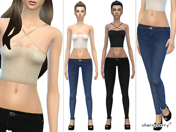 Back to basic - Clothing set by CherryBerrySim