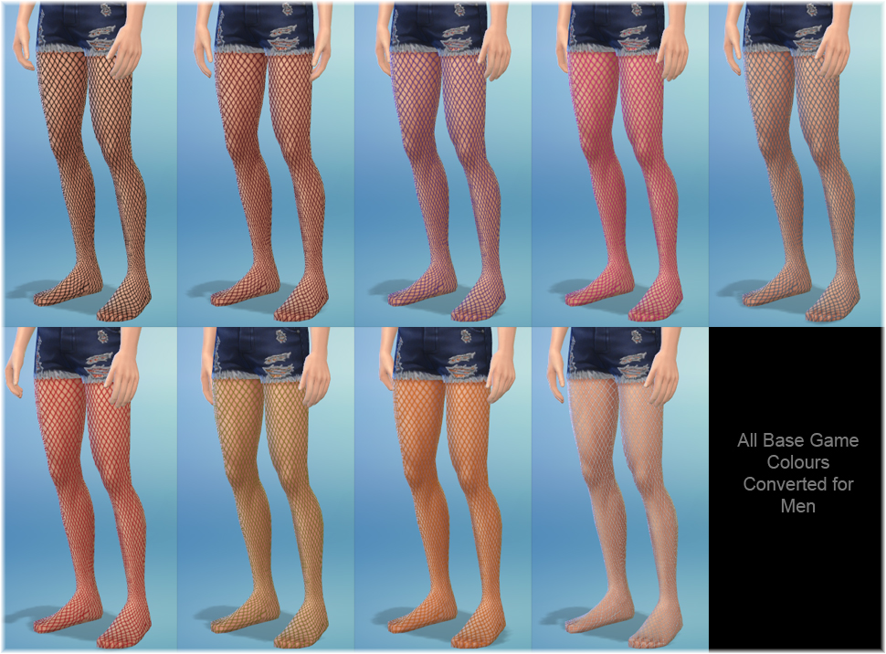 Fishnet Tights for Male Sims by Lunar Eclipse