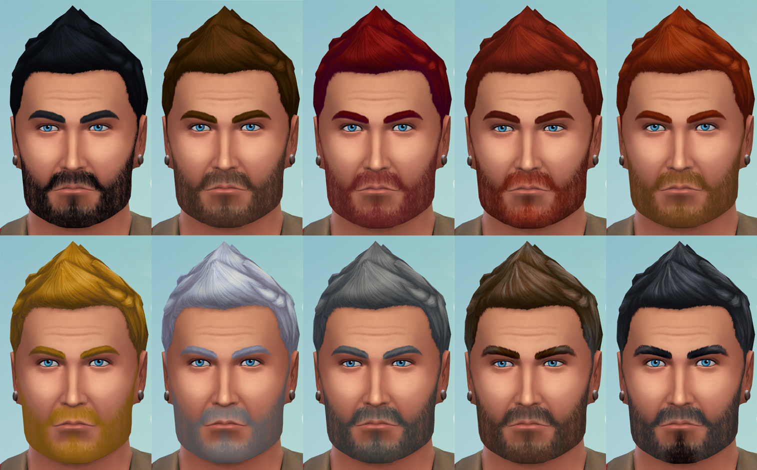 David Veiga Beard recolors by metalfenix