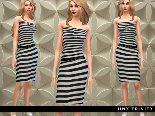 Two pieced striped dress by JinxTrinity