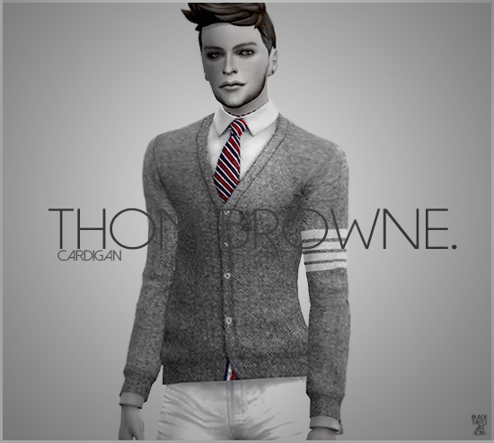 Thom Browne Cardigans for Males by BlackLe