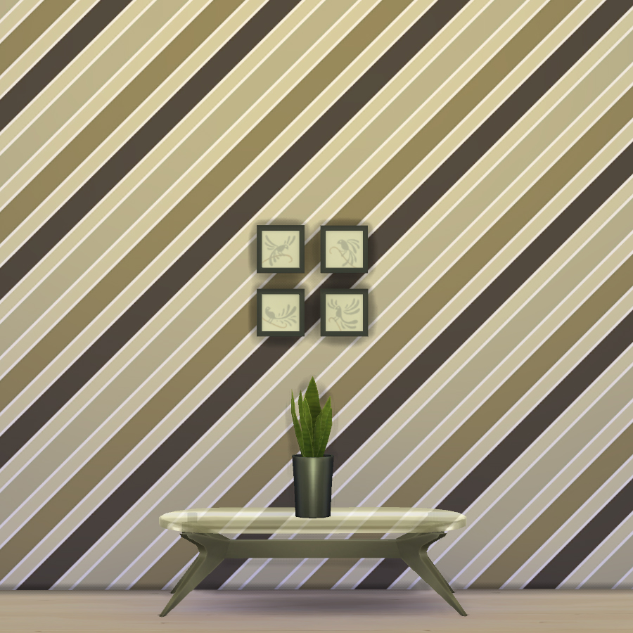 Retro Stripy Wallpaper by Gellysims