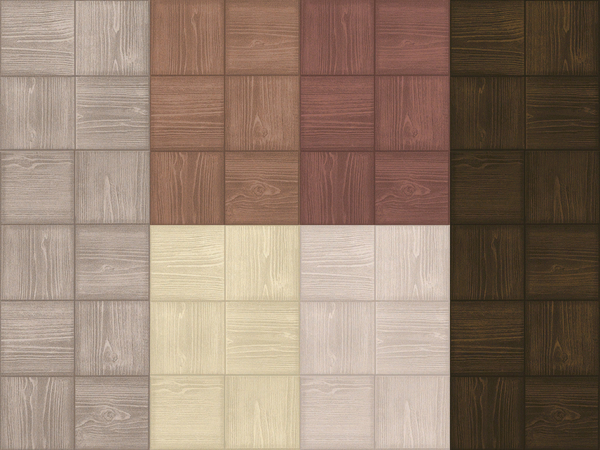 Wooden panel, 6 colors by Hanagatami