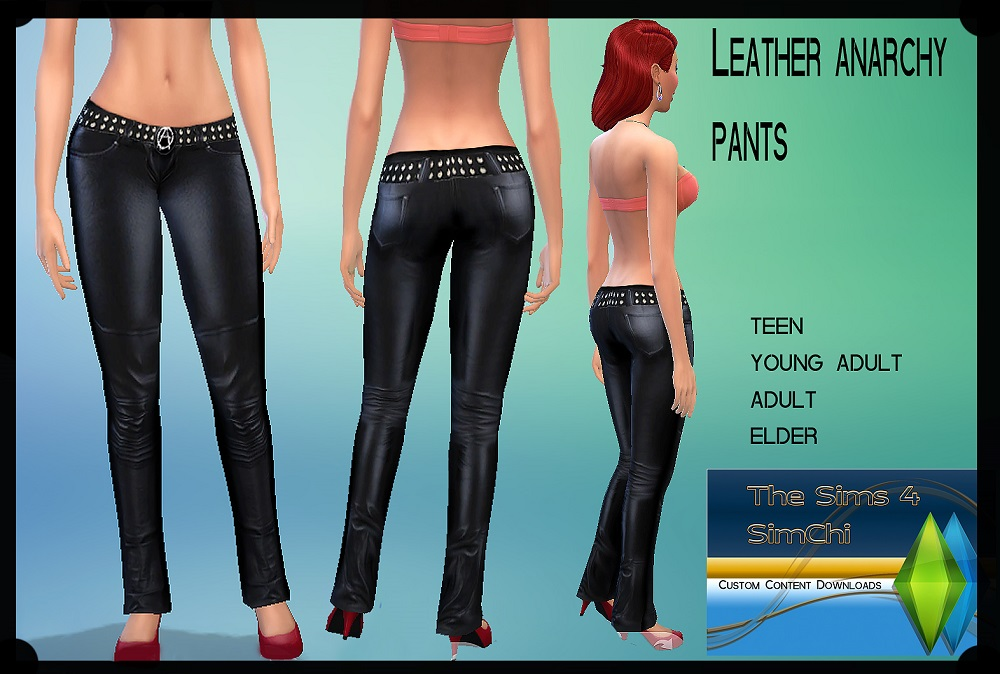 Leather Anarchy Pants for Women by Lady Ivory
