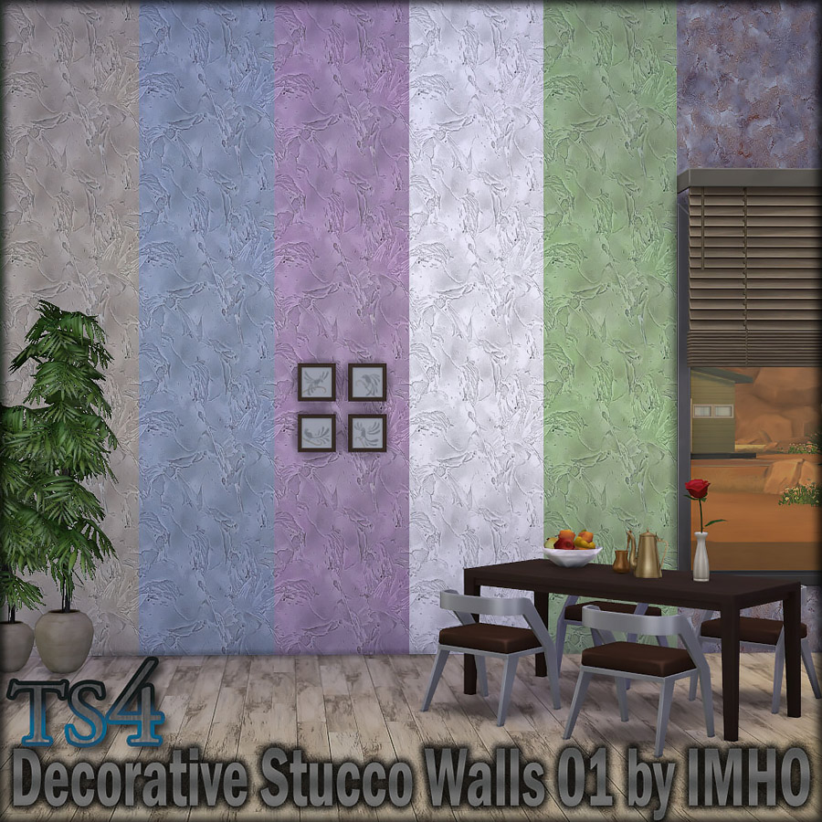 Decorative Stucco Walls 01 by IMHO