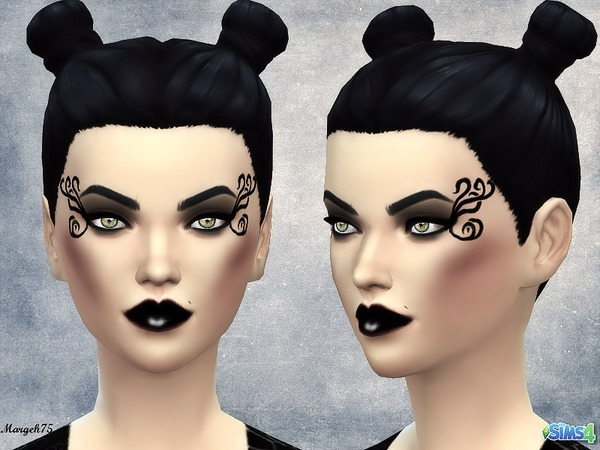 Sims 4 Darkside Makeup by Margeh-75