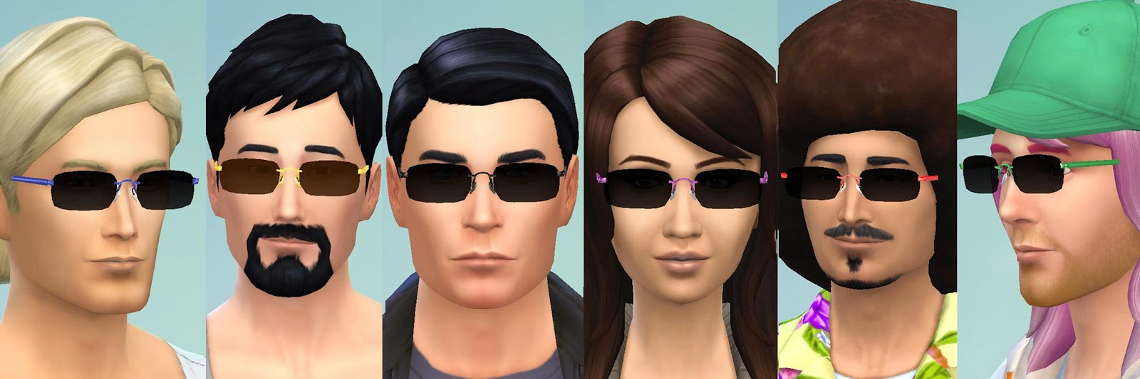 Frameless Rectangular Sunglasses (TS4 Version) by Esmeralda