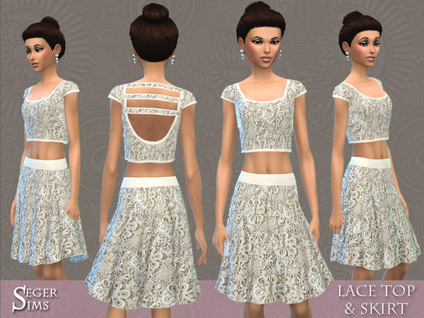 Lace Top & Skirt by SegerSims