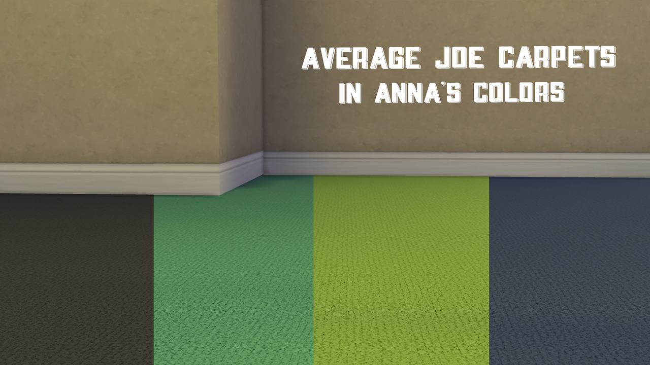 Average Joe Carpets in Anna's Colors by Pumpkinspicesnacks