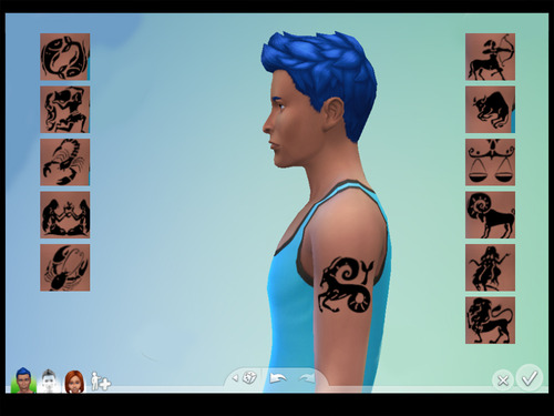 12 signs of the Western Zodiac at Brownieswife sims