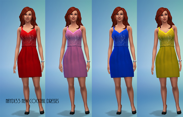 New Cocktail Dress with Sequin Top by Davinia
