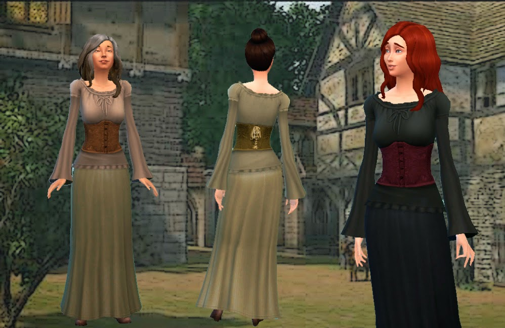 Medieval Dresses for Teen - Elder Females by Kiara24