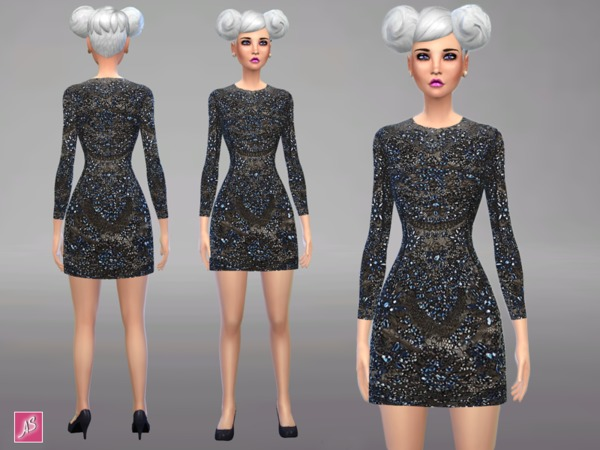 Embellished Mini Dress by Alexandra_Sine