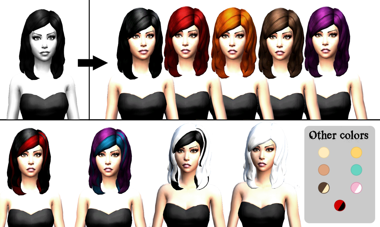 Simple Hair Edit for Females by LadyHayny