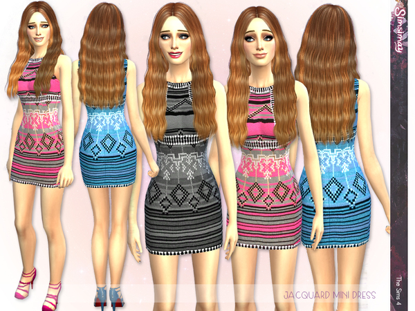 Milhey Jacquard Mini Dress by Simsimay