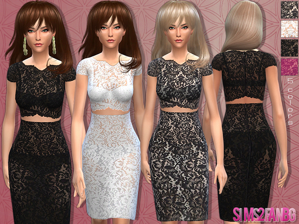 12 - Female Lace outfit by sims2fanbg