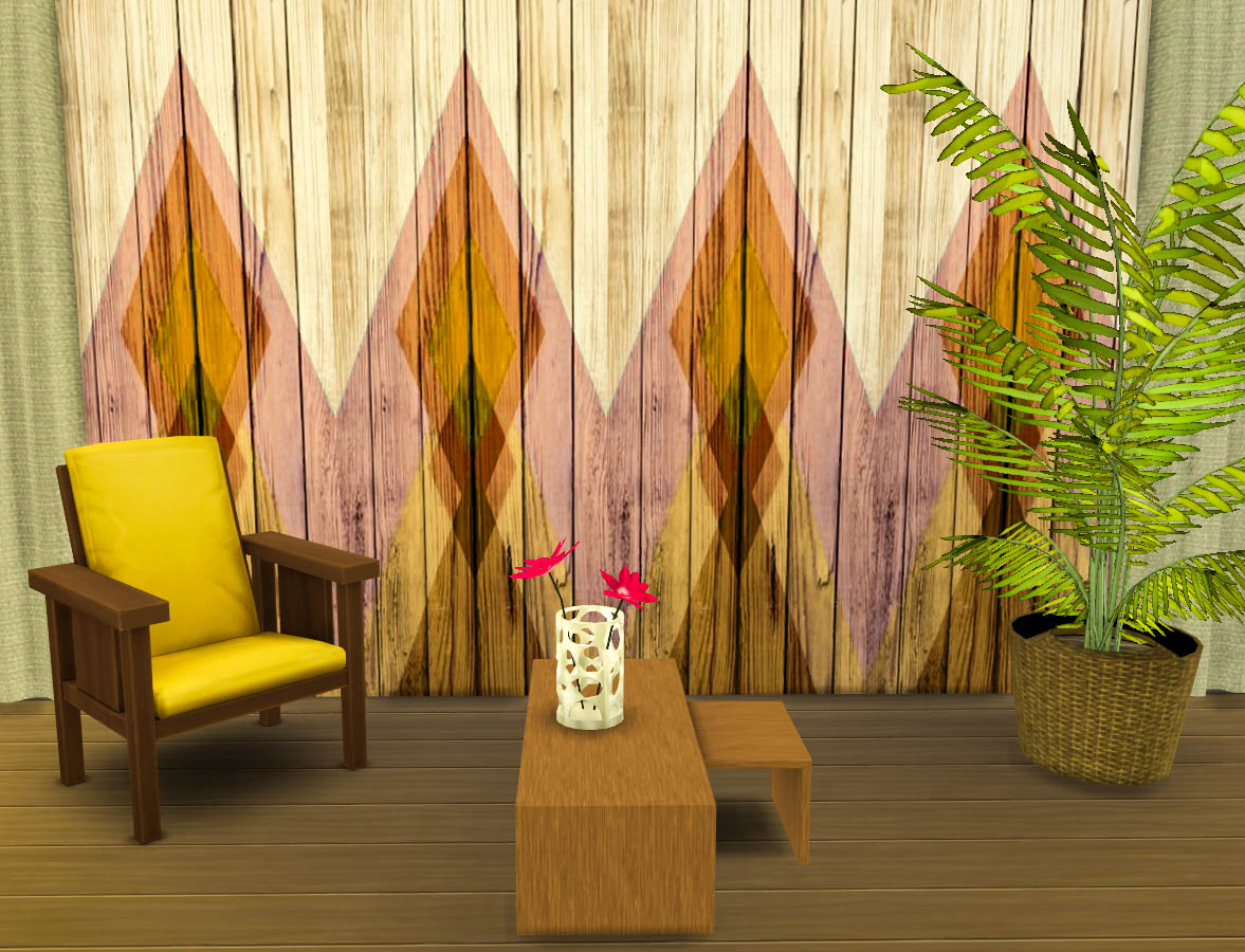 Colored Wood Panels by Ohmyglobsims