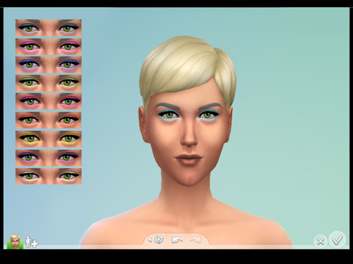 Eyeshadow in 10 Colors by Brownieswifesims