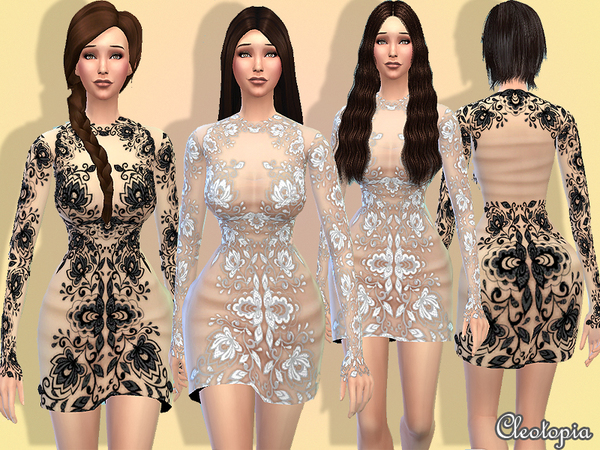 Set6- Haute Coutoure Embroidery Dress by Cleotopia