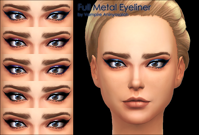 Full Metal Eyeliner 5 colors by Vampire aninyosaloh