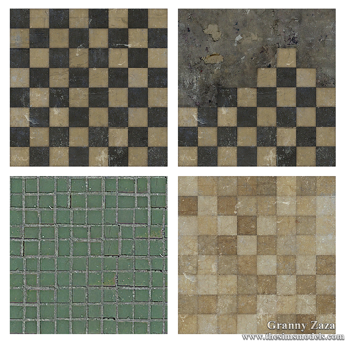 Floors for Sims 4 by Granny Zaza