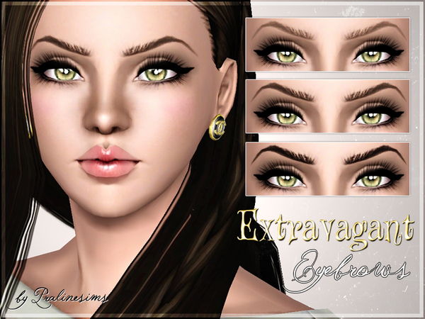 Extravagant Eyebrows by Pralinesims