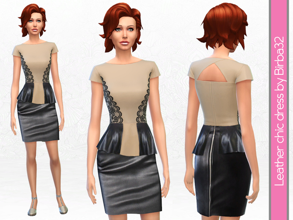 Leather and lace dress by Birba32