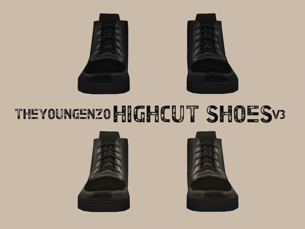 High Cut Shoes V3 by theyoungenzo