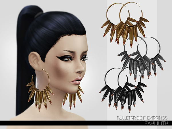 LeahLillith Bulletproof Earrings by Leah Lillith
