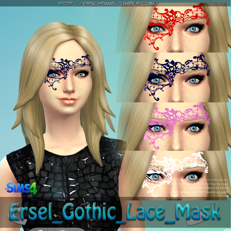 Gothic Lace Mask by Ersel